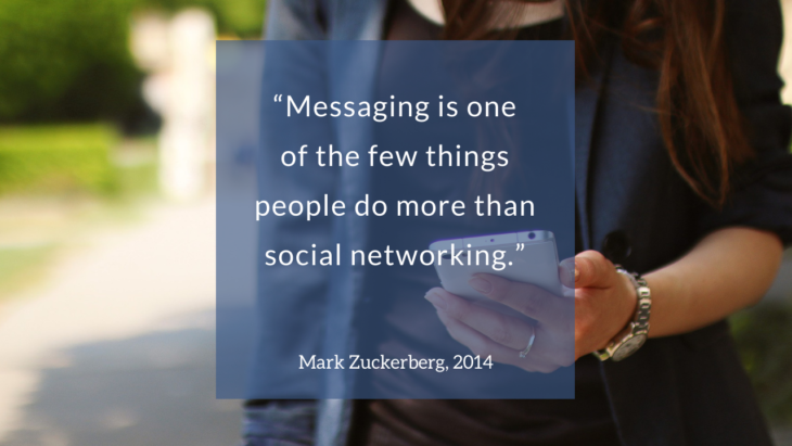 Zitat Mark Zuckerberg, 2014: Messaging is one of the few things people do more than social networking.