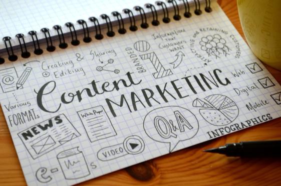 Foto mit Content-Marketing Sketch Note