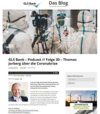 Screenshot GLS Bank Blog