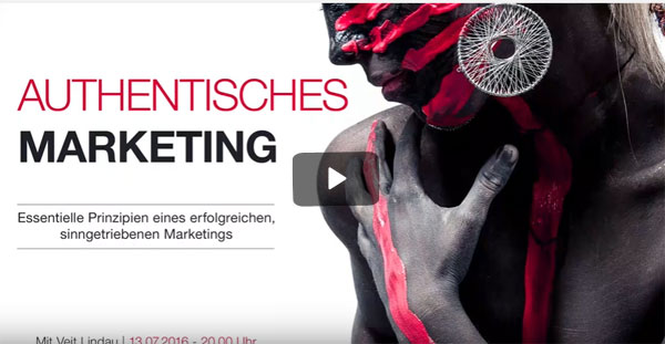 Authentisches Marketing - Veit Lindau im Live Video