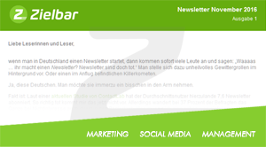 Newsletter November 2016 - Ausgabe 1