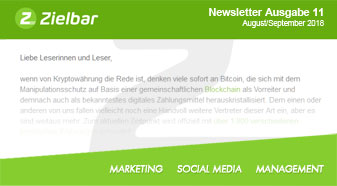 Newsletter Ausgabe 11 - August/September 2018